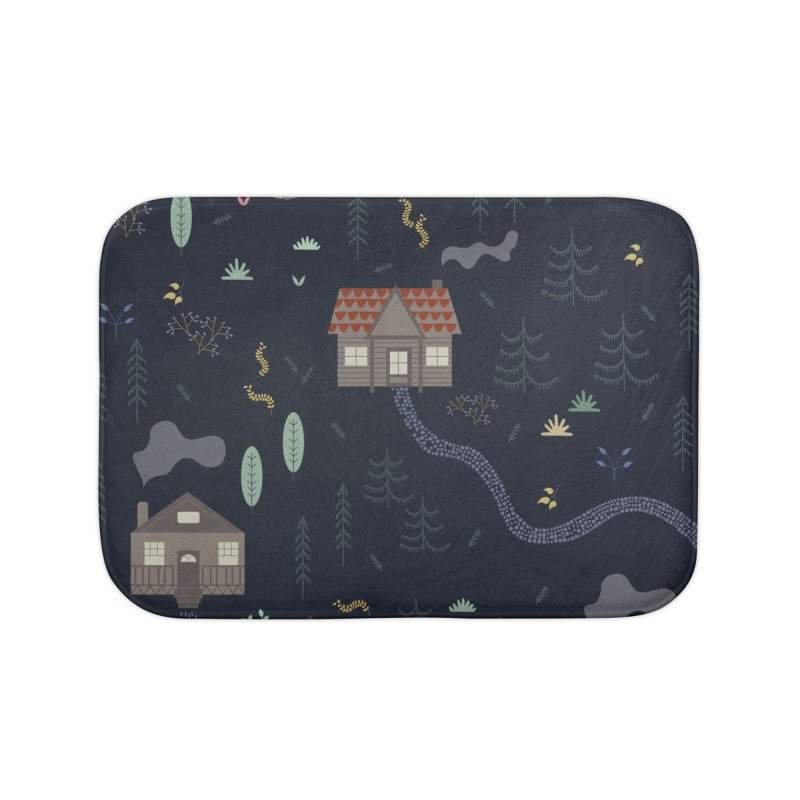 Mountain SUmmer NIght Home Bath Mat by ivvch's Artist Shop