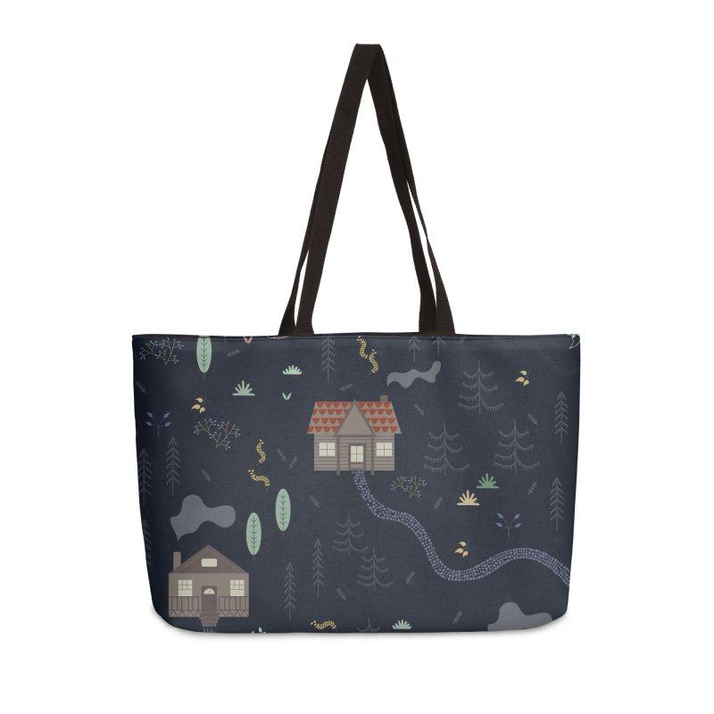 Mountain SUmmer NIght Accessories Weekender Bag Bag by ivvch's Artist Shop