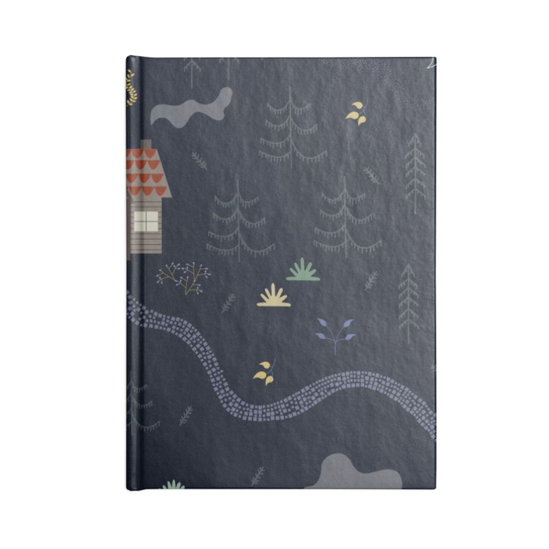 Mountain SUmmer NIght Accessories Blank Journal Notebook by ivvch's Artist Shop
