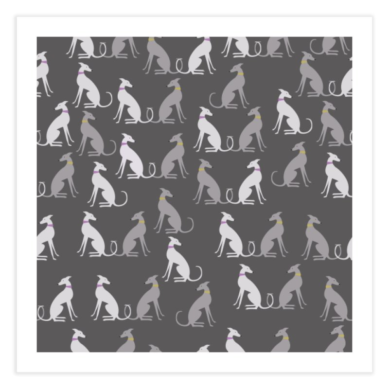 Whippet Pattern Home Fine Art Print by ivvch's Artist Shop