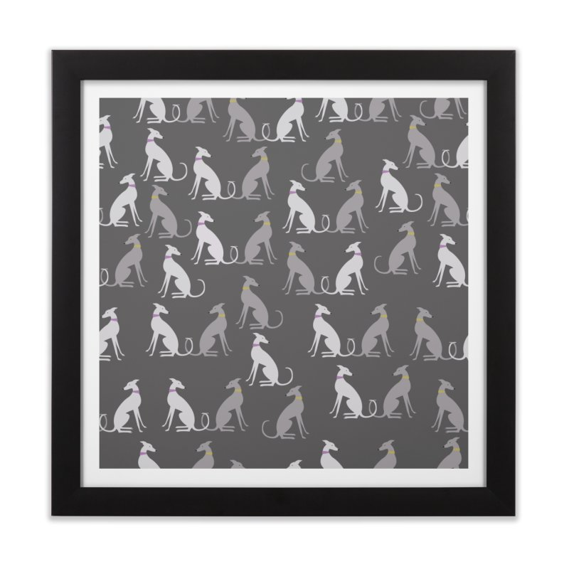 Whippet Pattern Home Framed Fine Art Print by ivvch's Artist Shop