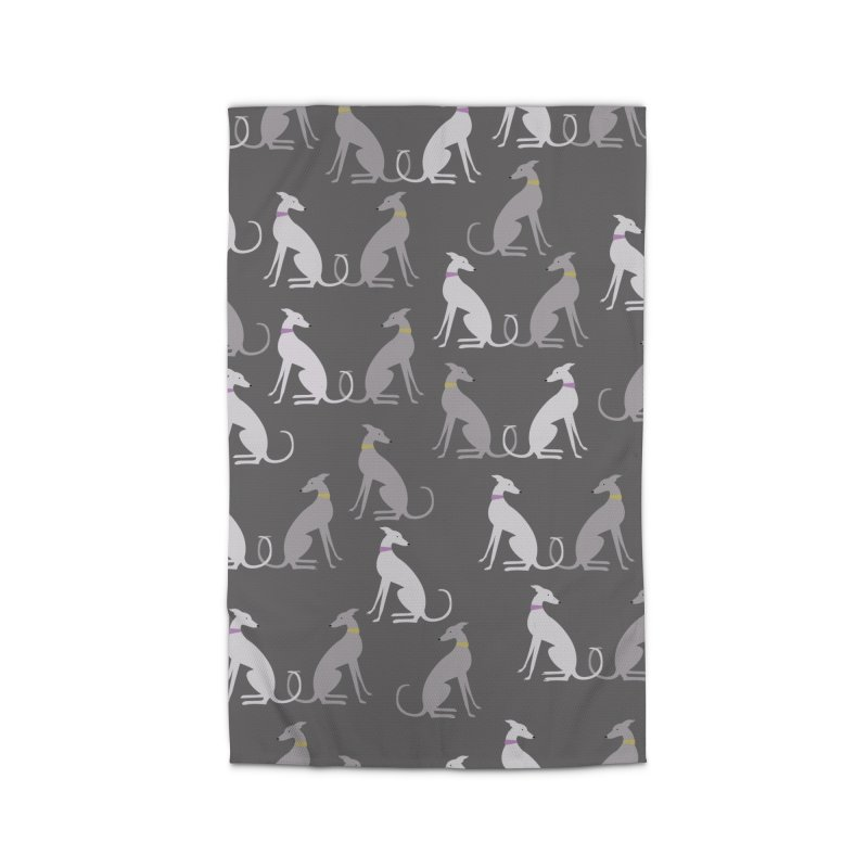 Whippet Pattern Home Rug by ivvch's Artist Shop