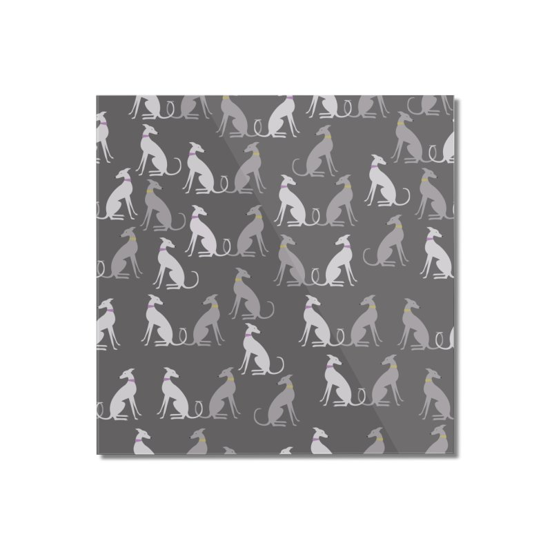 Whippet Pattern Home Mounted Acrylic Print by ivvch's Artist Shop