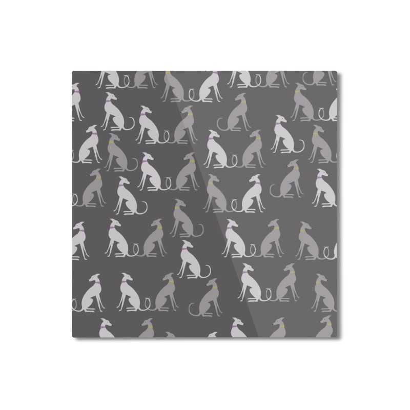 Whippet Pattern Home Mounted Aluminum Print by ivvch's Artist Shop
