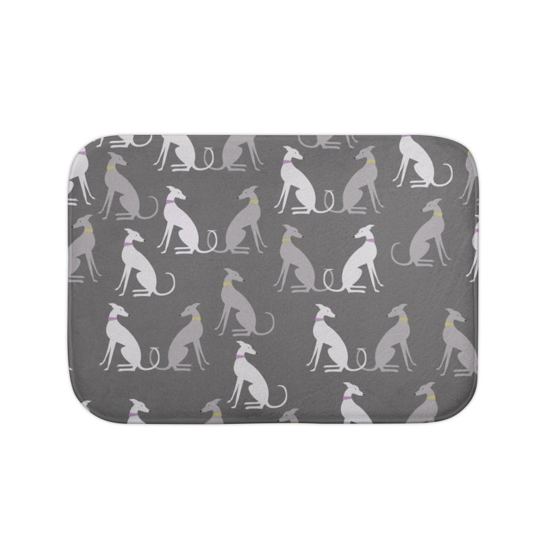 Whippet Pattern Home Bath Mat by ivvch's Artist Shop
