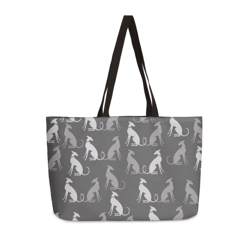 Whippet Pattern Accessories Weekender Bag Bag by ivvch's Artist Shop