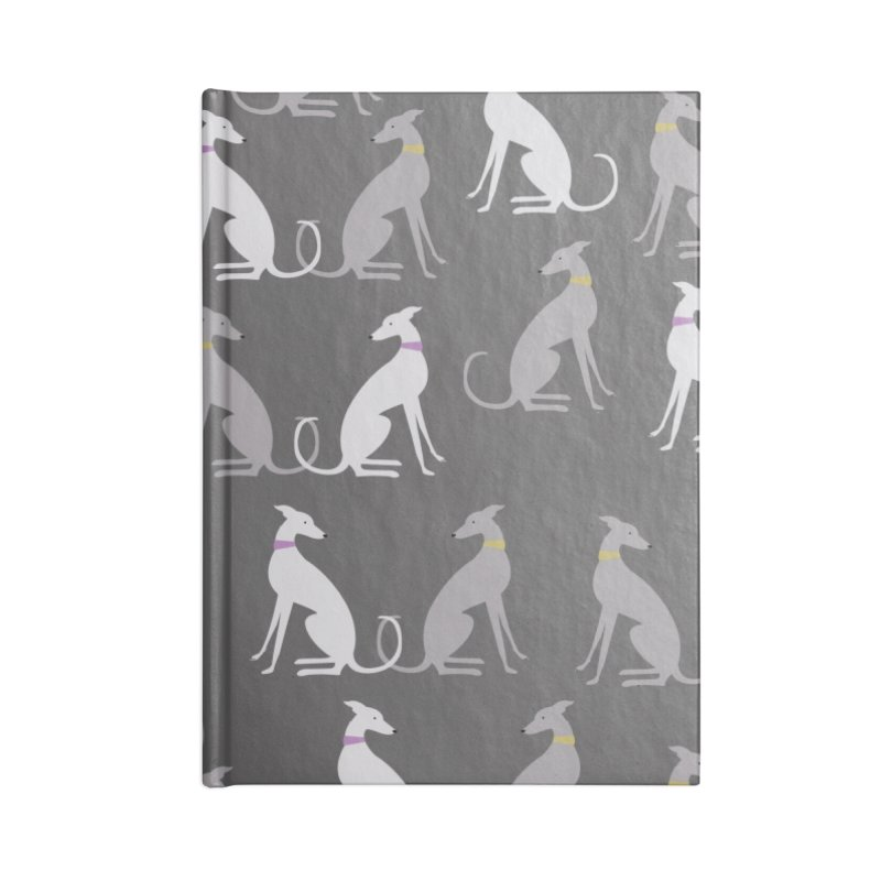 Whippet Pattern Accessories Notebook by ivvch's Artist Shop