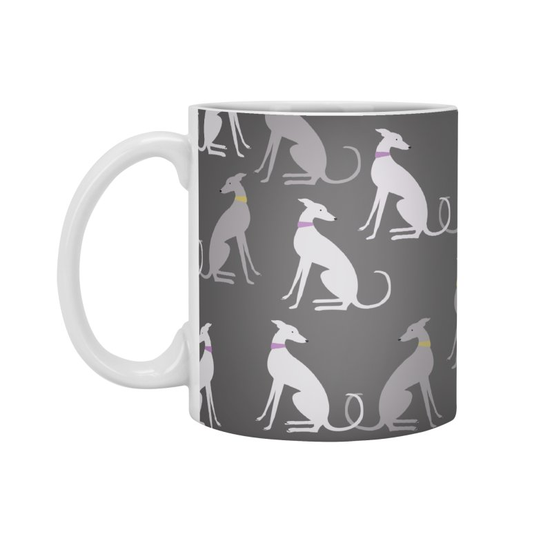 Whippet Pattern Accessories Standard Mug by ivvch's Artist Shop