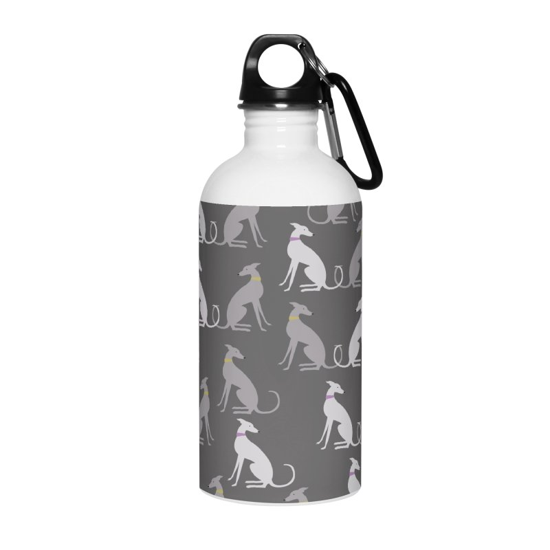 Whippet Pattern Accessories Water Bottle by ivvch's Artist Shop