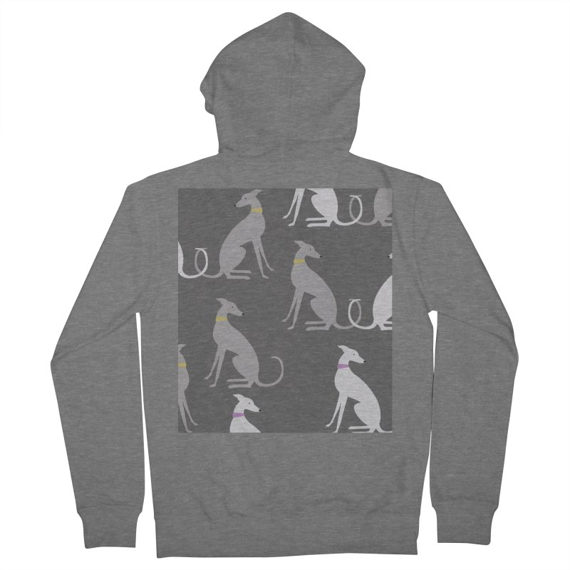 Whippet Pattern Women's French Terry Zip-Up Hoody by ivvch's Artist Shop