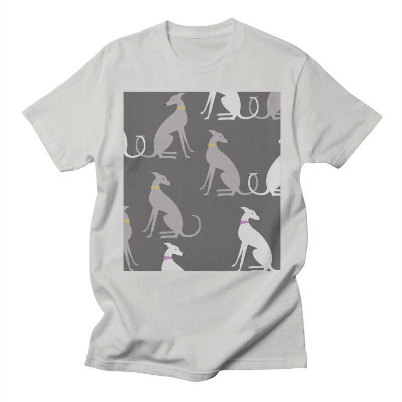 Whippet Pattern Men's Regular T-Shirt by ivvch's Artist Shop