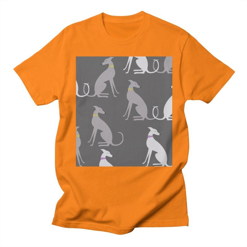 Whippet Pattern Men's Regular T-Shirt by ivvch's Artist Shop