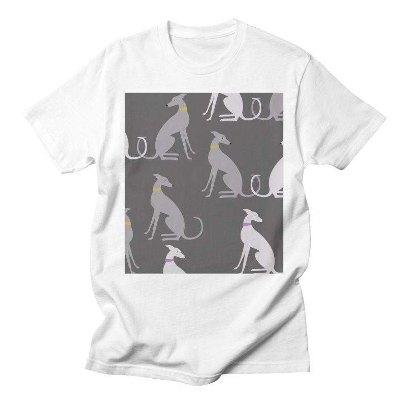 Whippet Pattern Women's Regular Unisex T-Shirt by ivvch's Artist Shop