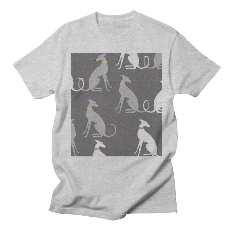 Whippet Pattern Men's T-Shirt by ivvch's Artist Shop