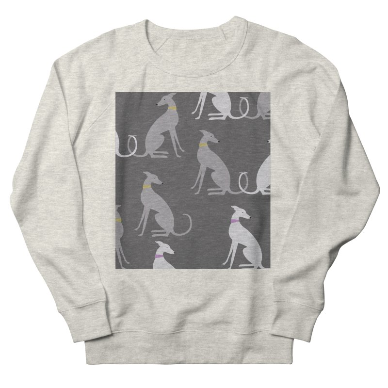 Whippet Pattern Women's French Terry Sweatshirt by ivvch's Artist Shop