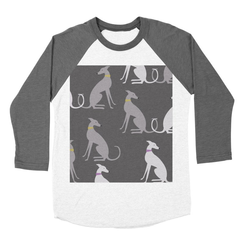 Whippet Pattern Women's Baseball Triblend T-Shirt by ivvch's Artist Shop
