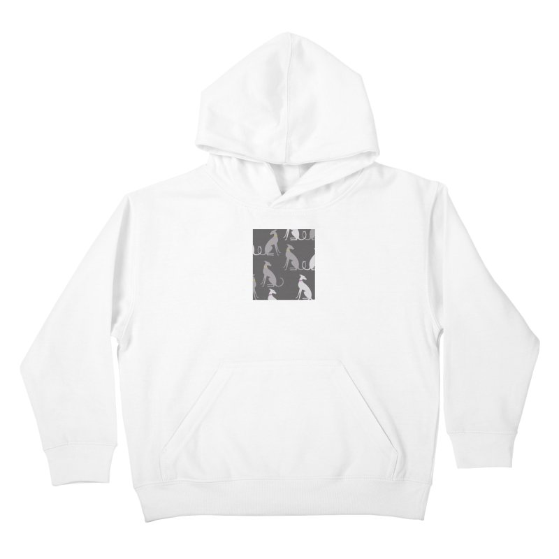 Whippet Pattern Kids Pullover Hoody by ivvch's Artist Shop