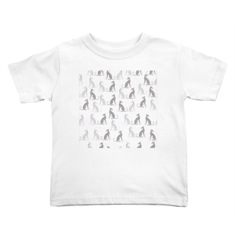 Whippet Pattern II Kids Toddler T-Shirt by ivvch's Artist Shop