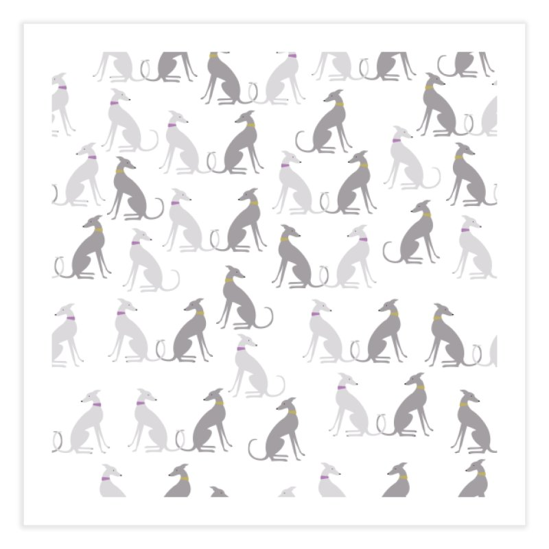 Whippet Pattern II Home Fine Art Print by ivvch's Artist Shop