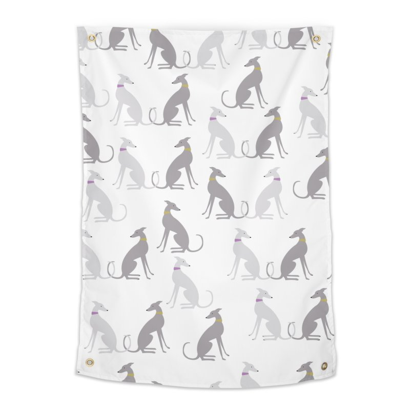 Whippet Pattern II Home Tapestry by ivvch's Artist Shop