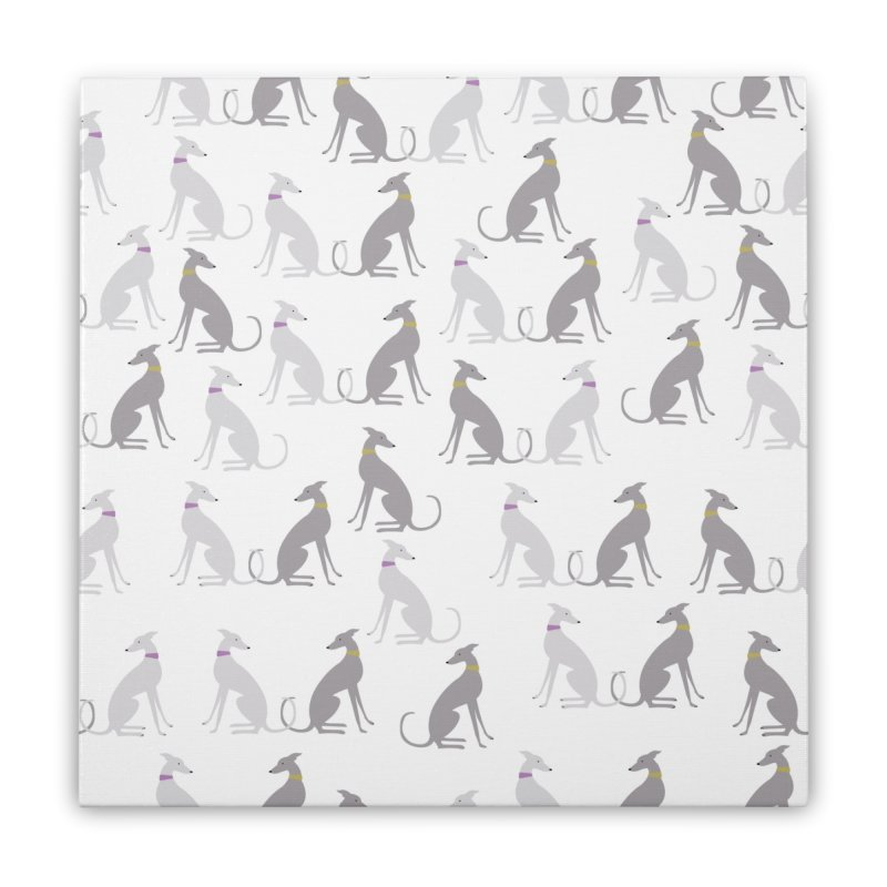 Whippet Pattern II Home Stretched Canvas by ivvch's Artist Shop