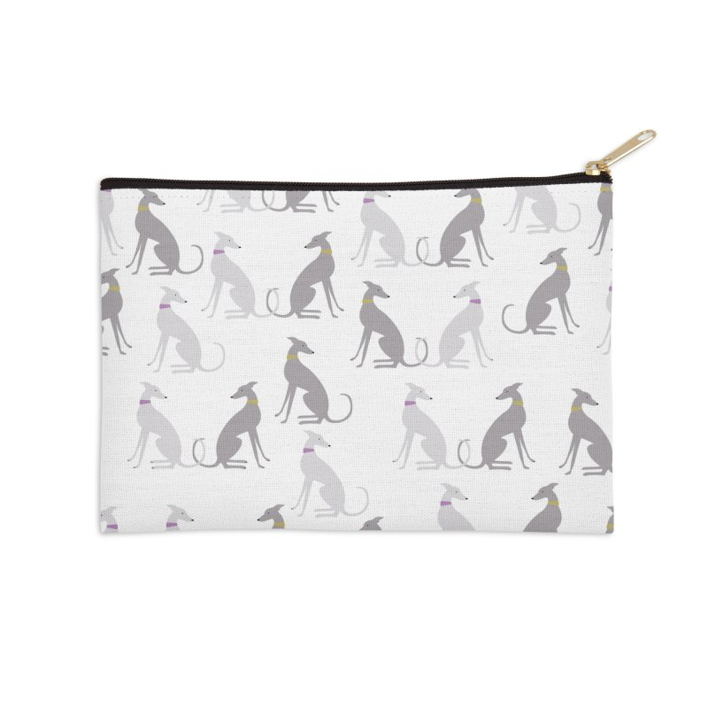Whippet Pattern II Accessories Zip Pouch by ivvch's Artist Shop