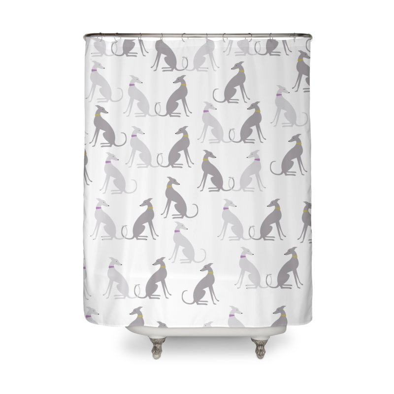 Whippet Pattern II Home Shower Curtain by ivvch's Artist Shop