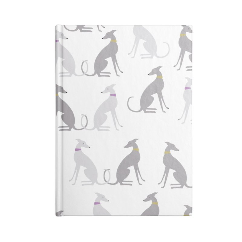 Whippet Pattern II Accessories Blank Journal Notebook by ivvch's Artist Shop