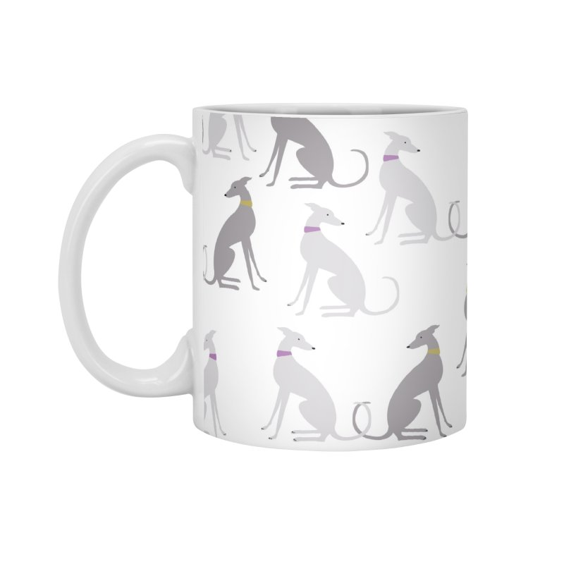 Whippet Pattern II Accessories Standard Mug by ivvch's Artist Shop