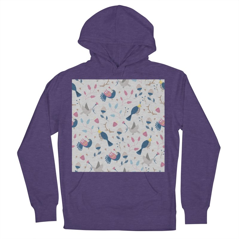 Birds Pattern Women's French Terry Pullover Hoody by ivvch's Artist Shop