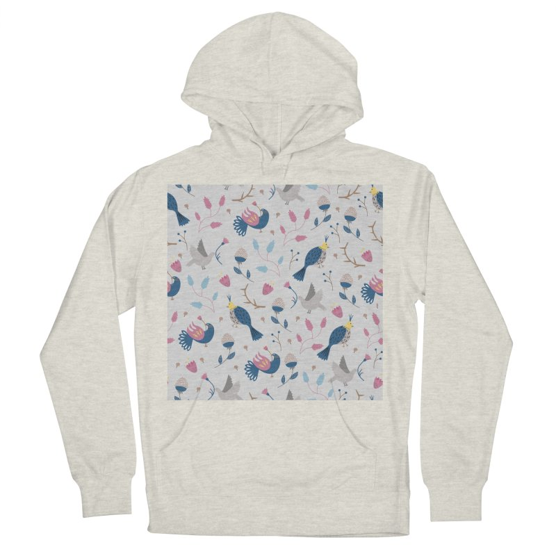 Birds Pattern Men's French Terry Pullover Hoody by ivvch's Artist Shop