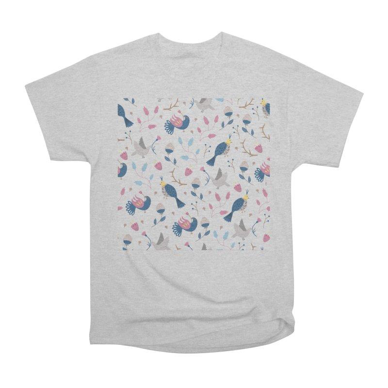 Birds Pattern Women's Heavyweight Unisex T-Shirt by ivvch's Artist Shop