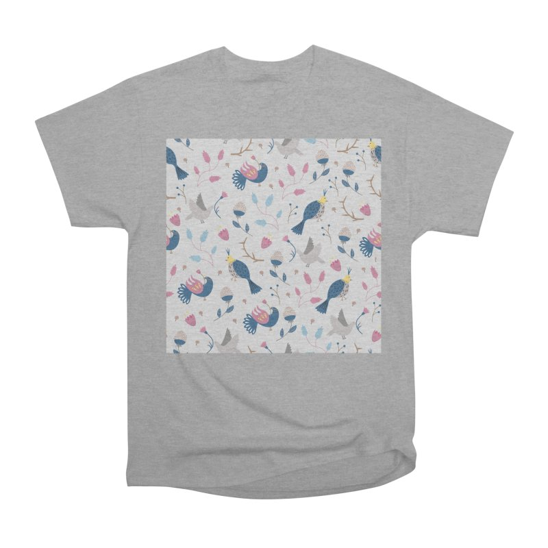 Birds Pattern Men's Heavyweight T-Shirt by ivvch's Artist Shop