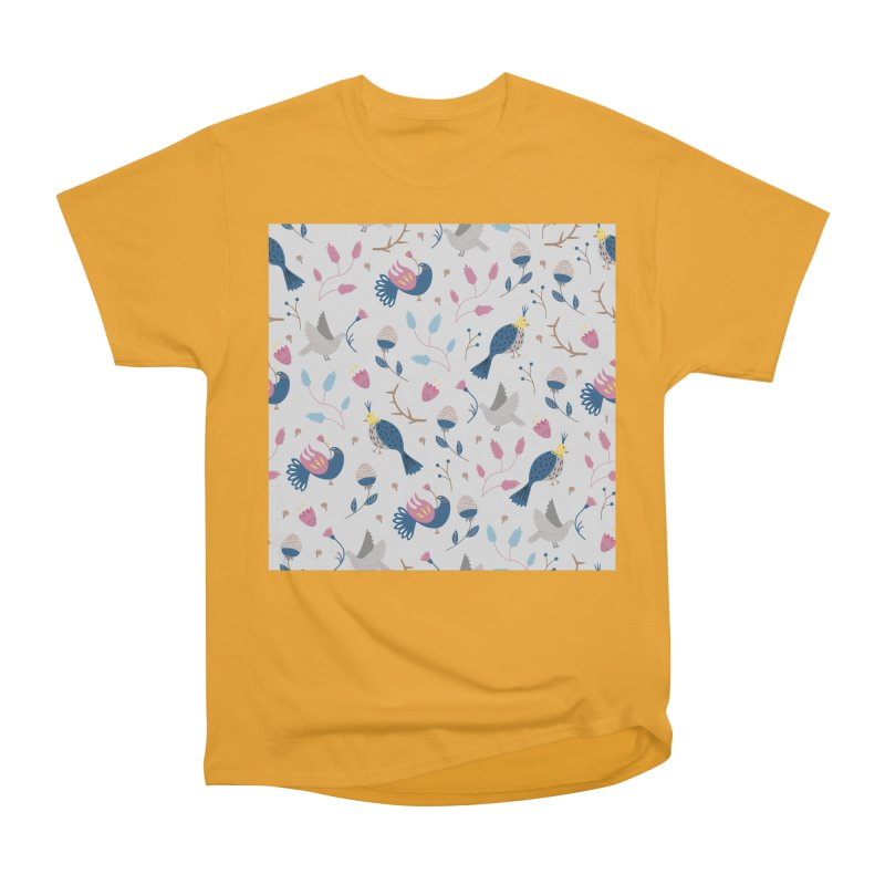 Birds Pattern Women's Heavyweight Unisex T-Shirt by ivvch's Artist Shop