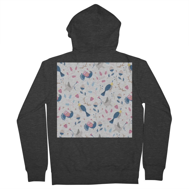Birds Pattern Men's Zip-Up Hoody by ivvch's Artist Shop
