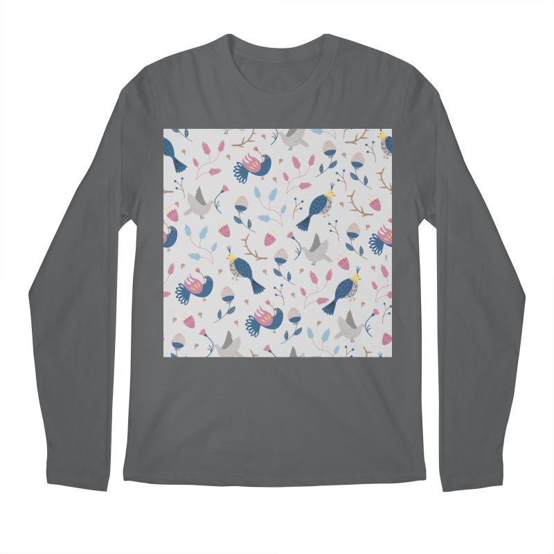 Birds Pattern Men's Regular Longsleeve T-Shirt by ivvch's Artist Shop
