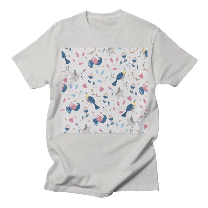 Birds Pattern Women's Regular Unisex T-Shirt by ivvch's Artist Shop