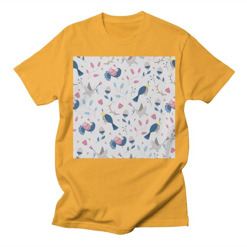 Birds Pattern Women's Unisex T-Shirt by ivvch's Artist Shop