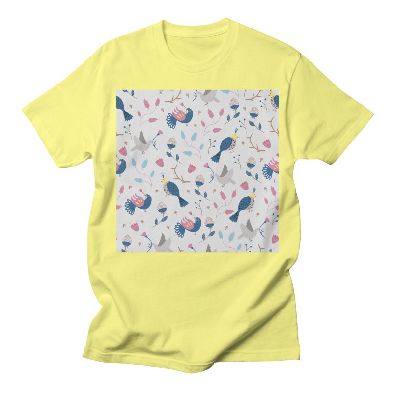 Birds Pattern Men's Regular T-Shirt by ivvch's Artist Shop