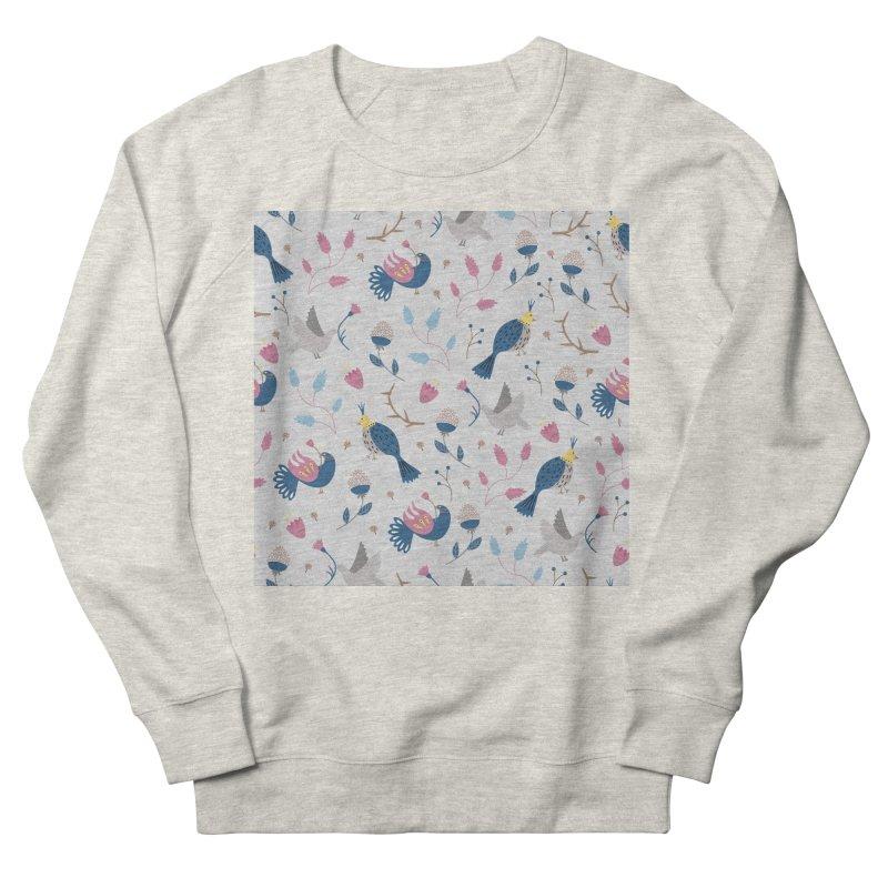 Birds Pattern Women's French Terry Sweatshirt by ivvch's Artist Shop