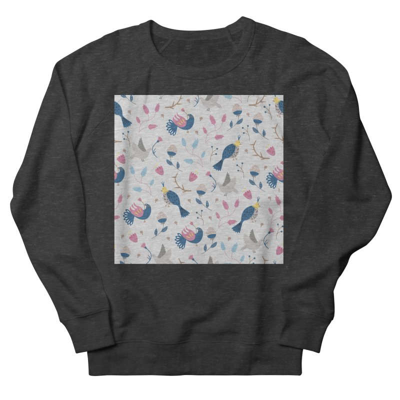 Birds Pattern Men's French Terry Sweatshirt by ivvch's Artist Shop