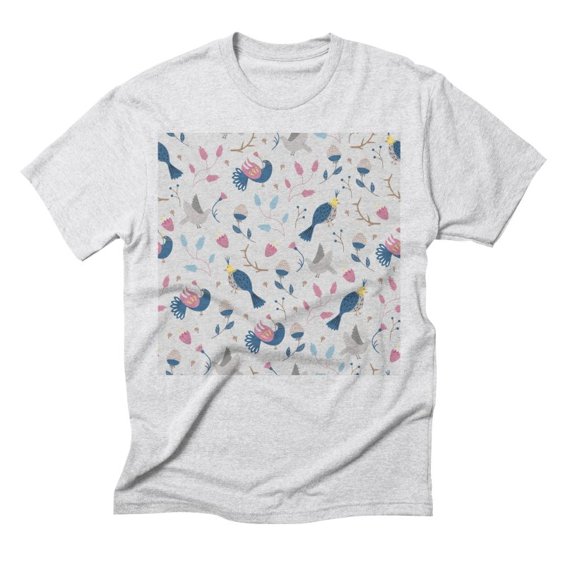 Birds Pattern Men's Triblend T-Shirt by ivvch's Artist Shop