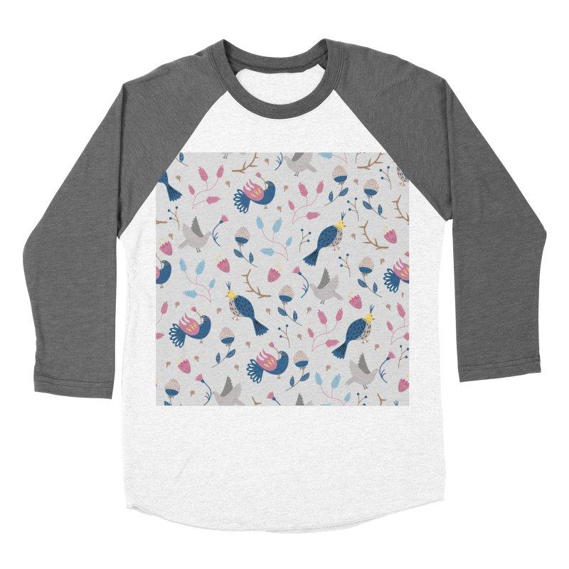 Birds Pattern Men's Baseball Triblend T-Shirt by ivvch's Artist Shop