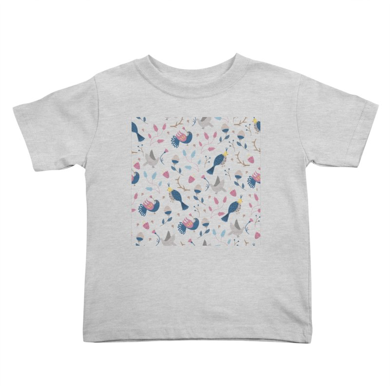 Birds Pattern Kids Toddler T-Shirt by ivvch's Artist Shop