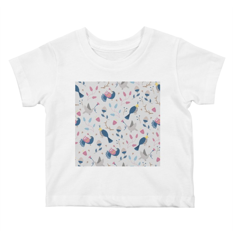 Birds Pattern Kids Baby T-Shirt by ivvch's Artist Shop