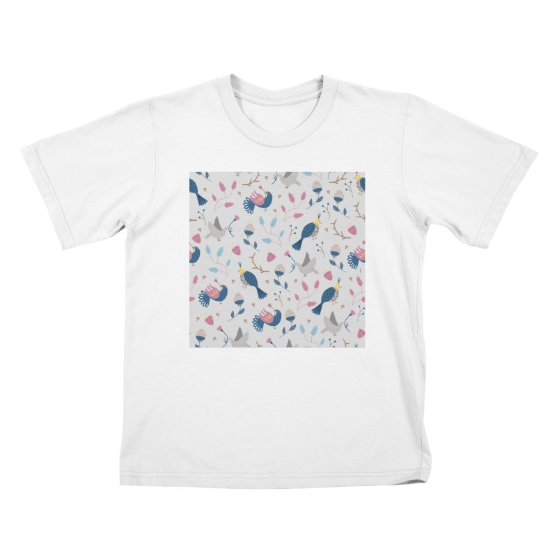 Birds Pattern Kids T-Shirt by ivvch's Artist Shop