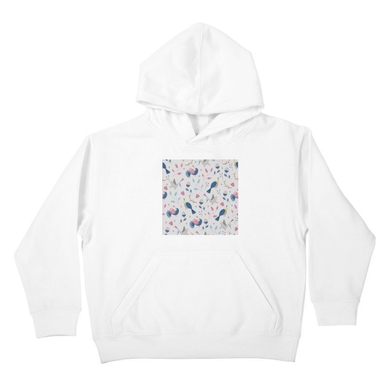 Birds Pattern Kids Pullover Hoody by ivvch's Artist Shop