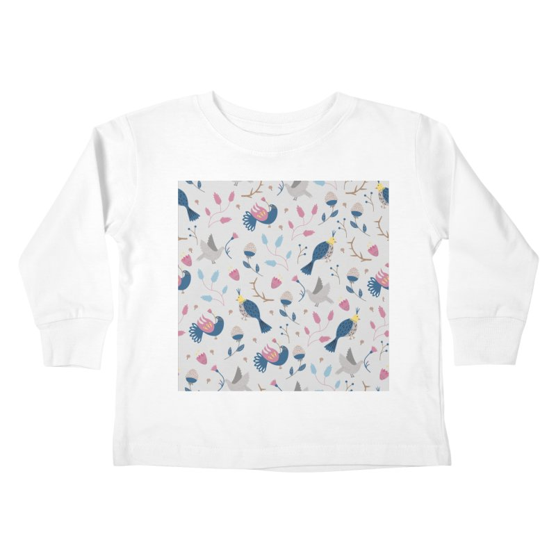 Birds Pattern Kids Toddler Longsleeve T-Shirt by ivvch's Artist Shop