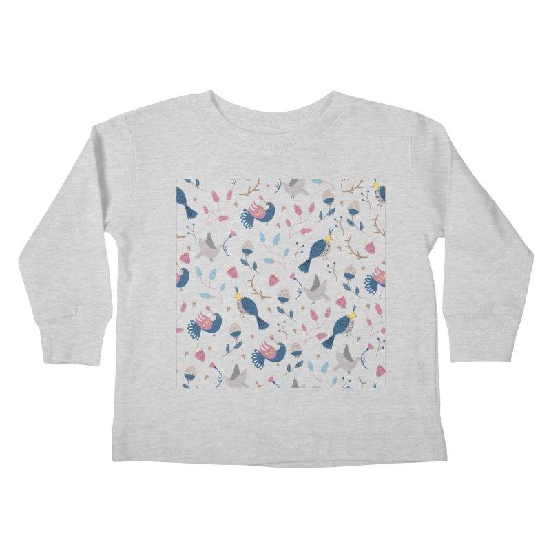 Birds Pattern Kids Toddler Longsleeve T-Shirt by ivvch's Artist Shop
