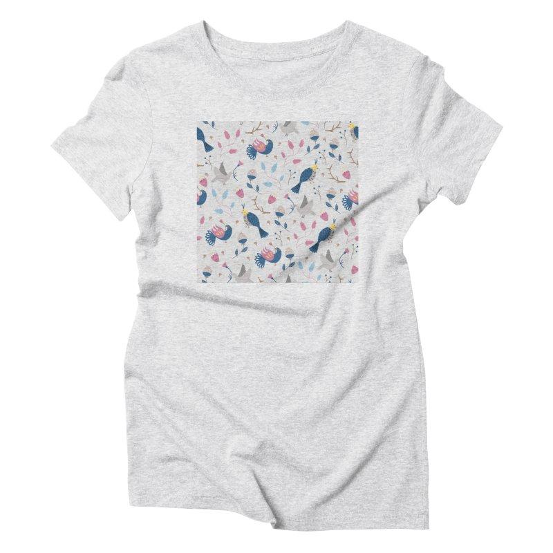 Birds Pattern Women's Triblend T-Shirt by ivvch's Artist Shop